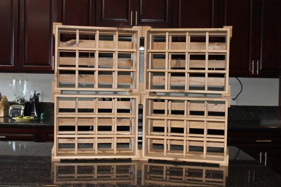 Rustic Handmade Wine Racks